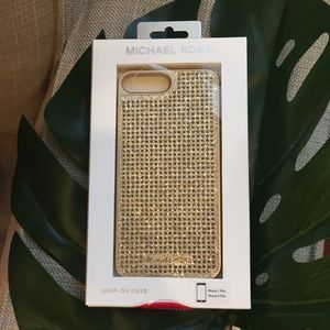 NWTs Michael Kors Gold Sparkling  IPhone 7/8 Plus